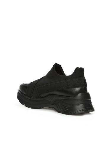 Divarese 5024737 Kadın Deri Sneaker Siyah